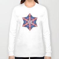 sacred geometry Long Sleeve T-shirts featuring Sacred Geometry StarFlake Mandala by Jam.