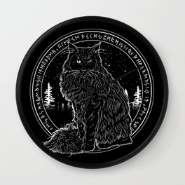 FOREST CAT Wall Clock
