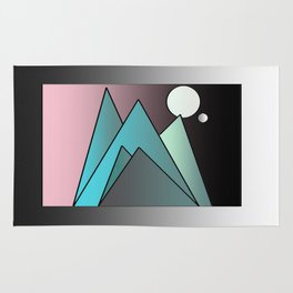 Feel by the moon Rug