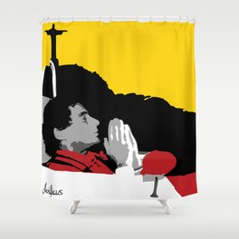 Against All Odds - Ayrton Senna Shower Curtain
