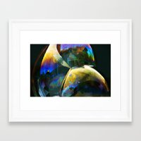 bubble Framed Art Prints featuring Bubble by Lia Bernini