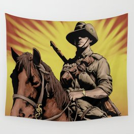 Australian Light Horse soldier Wall Tapestry