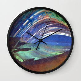 stage for the sun (pinhole camera) Wall Clock