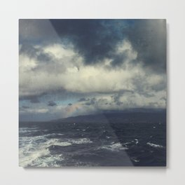 Wild Ocean with Rainbow Metal Print