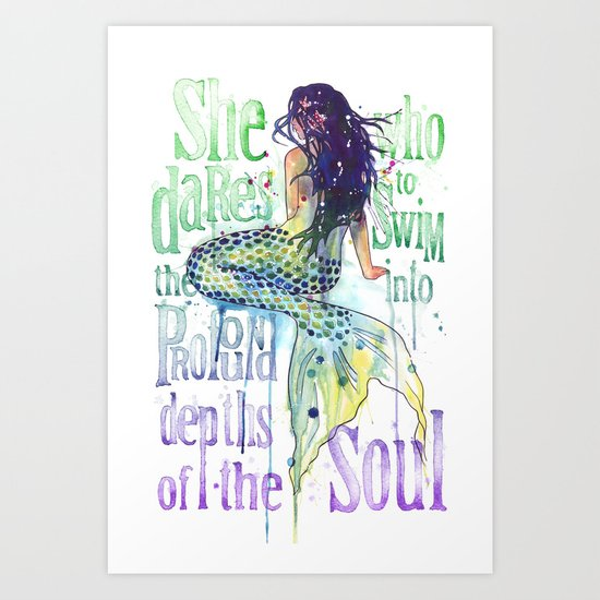 Mermaid : Profound Depths Art Print