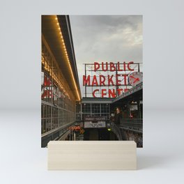 Seattle Public Market Center Mini Art Print