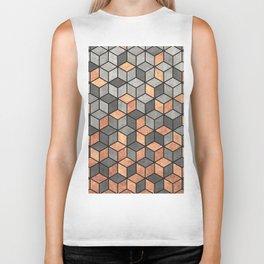 Concrete and Copper Cubes Biker Tank