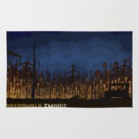 boardwalk empire Area & Throw Rugs featuring boardwalk empire by christopher-james robert warrington