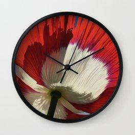 Danish Flag Poppy 2 Wall Clock