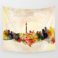 toronto Wall Tapestries featuring  Toronto  by mark ashkenazi