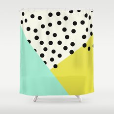 Mod dots and angles  Shower Curtain