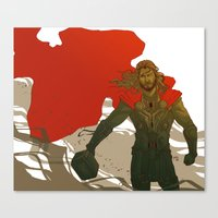 thor Canvas Prints featuring Thor by Pulvis