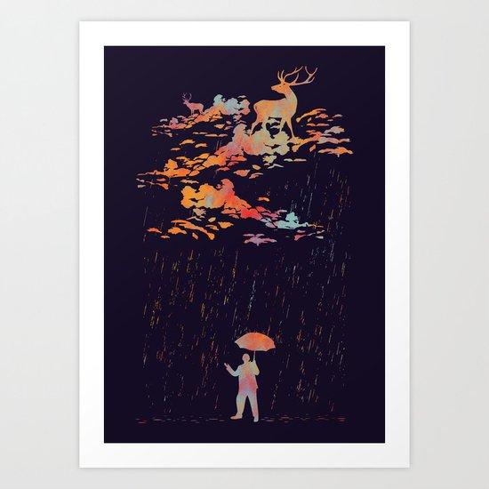 It's rain,my deer. Art Print