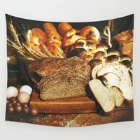 food Wall Tapestries featuring Food by Kathrin Legg
