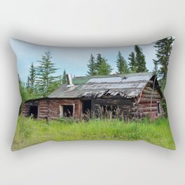Alaskan Frontier Cabin Rectangular Pillow