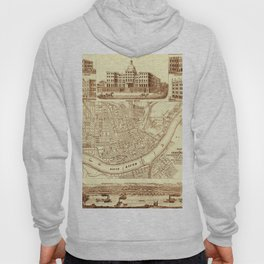 Vintage Cincinnati Map 1850 Hoody
