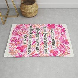 Always Remember – Pink Ombré Palette Rug