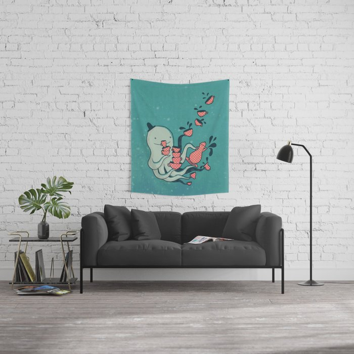 Tea & Tentacles Wall Tapestry