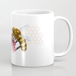 Bee and Montreal Echinacea Coffee Mug