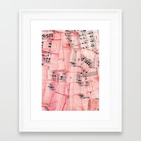 jazz Framed Art Prints featuring Jazz by The New Old World