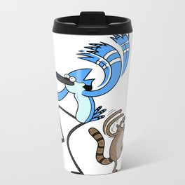Mordecai & Rigby - Regular Show Metal Travel Mug