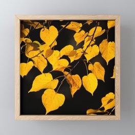 Autumn Foliage Yellow Leaves #decor #buyart #society6 Framed Mini Art Print