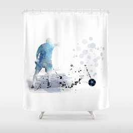 Soccer Player 6 Shower Curtain