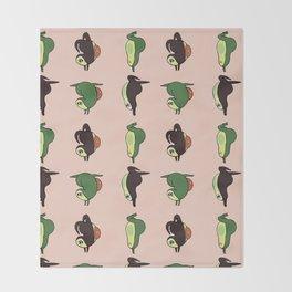 Handstand Avocado Throw Blanket