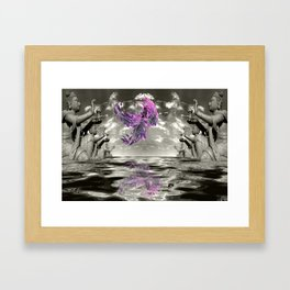 view from the Temple Framed Art Print