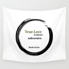 Motivational Zen Love Quote Wall Tapestry