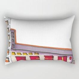Geometric Architectural Design Illustration 99 Rectangular Pillow