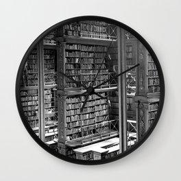 A Book Lover's Dream - Cast-iron Book Alcoves of Old Cincinnati Public Library Wall Clock