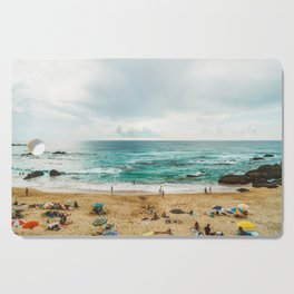 People Having Fun On Beach, Algarve Lagos Portugal, Tourists In Summer Vacation, Wall Art Poster Cutting Board