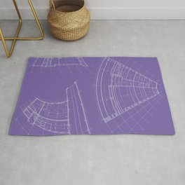 architectural drawings Rug