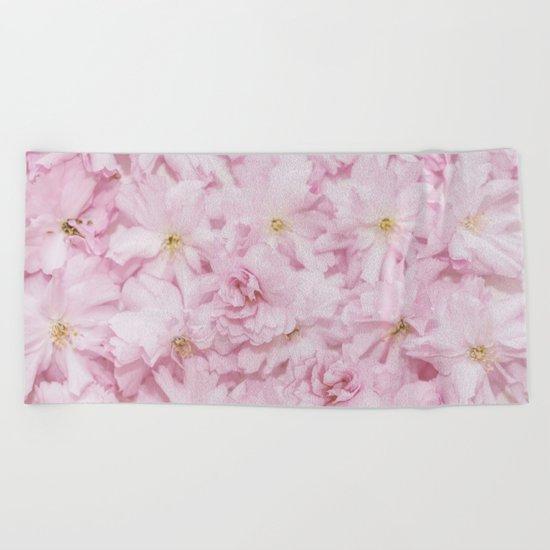 Sakura- cherryblossoms pattern Beach Towel
