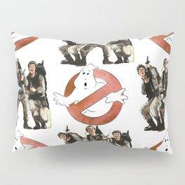 Vintage Ghostbusters Fan Art Illustration Pillow Sham