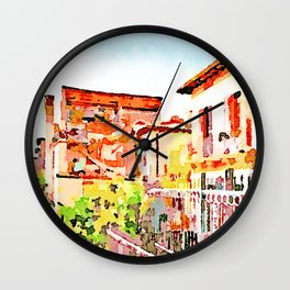 L'Aquila: foreshortening with destroyed buildings  Wall Clock