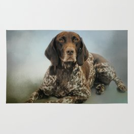 Waiting For A Cue - German Shorthaired Pointer Rug