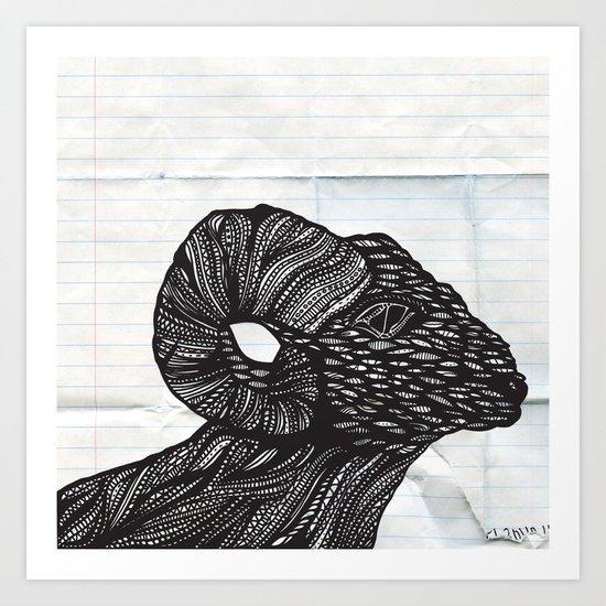 Baaaaaah Art Print