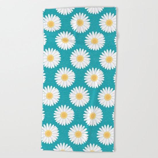 Spring Daisies Beach Towel