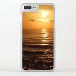 Sunset on Water Clear iPhone Case