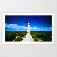 The Lighthouse - Painting Style Art Print
