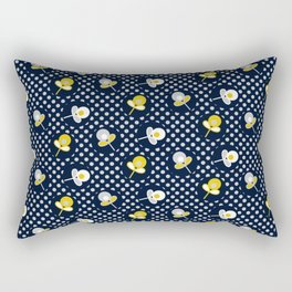 retro paisley flower Rectangular Pillow