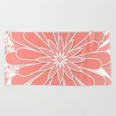 Coral flower . 2 Beach Towel