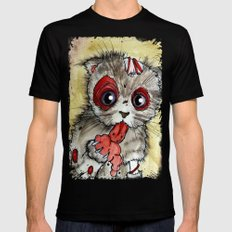 LOL zombie cat Mens Fitted Tee 2X-LARGE Black