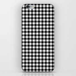 Gingham Black and White Pattern iPhone Skin