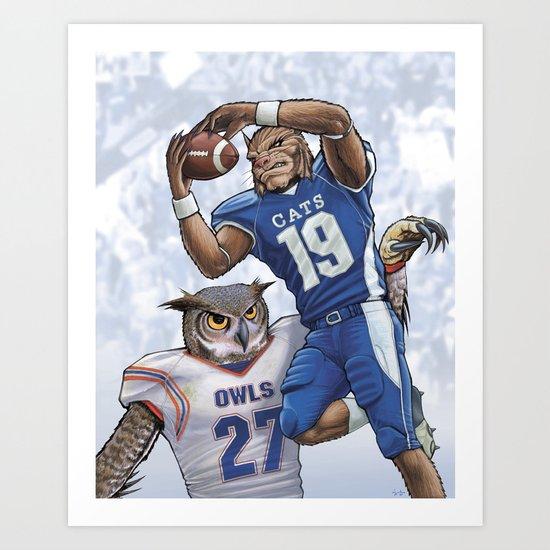 Wildcats versus Owls Art Print