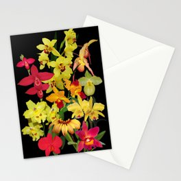 Orchids - Hot Colors! Stationery Cards