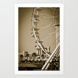 Ferris Wheel, Long Beach CA Art Print