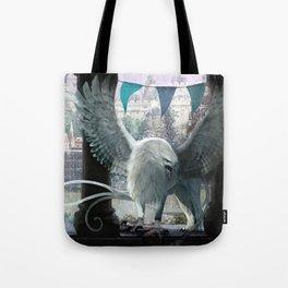The white griffon Tote Bag